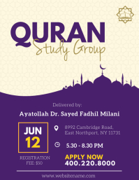 Purple Quran Study Flyer