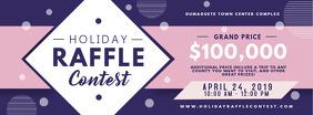 Purple Raffle Contest Ticket Invitation