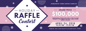 Purple Raffle Contest Ticket Invitation