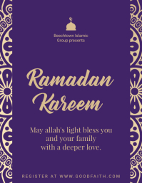 Purple Ramadan Celebration Flyer Template