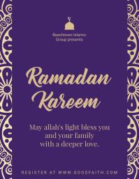 Purple Ramadan Celebration Flyer Template