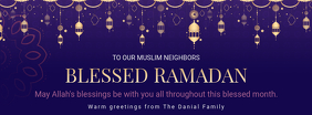 Purple Ramadan Charity Event invitation Banner Portada de Facebook template
