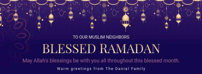 Purple Ramadan Charity Event invitation Banner