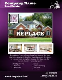Purple real estate flyer - Letter size Volante (Carta US) template