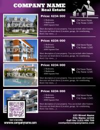 Purple real estate listing flyer - Letter size (new version)