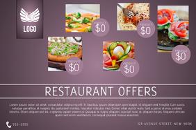 purple restaurant food menu sale offer landscape