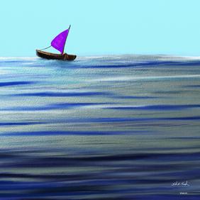 Purple Sail Boat