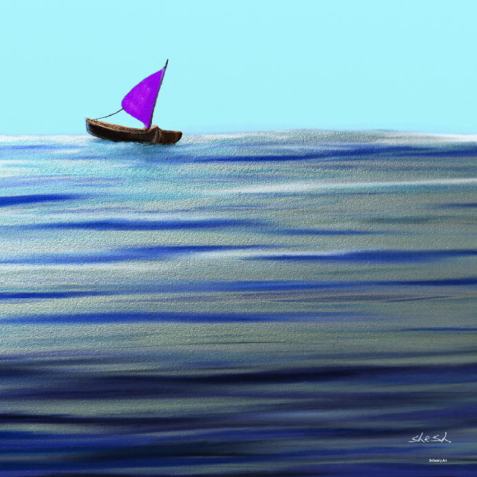 purple sail boat template postermywall