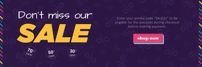 Purple Sale Animated Email Header template