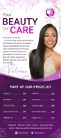 Purple Salon Rack Card template