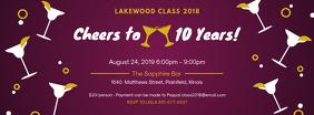 Purple School Reunion Party Invite