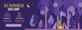 Purple School Summer Camp Banner