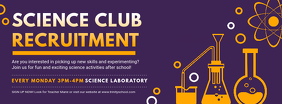 Purple Science Club Recruitment Banner Facebook Cover Photo template