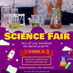 Purple Science Fair School Square Video