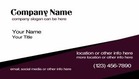 Purple Slant Business Cards