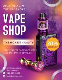 Purple Smokey Vape Shop Flyer Template
