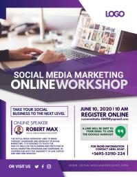 Purple Social Media Marketing Workshop Flyer
