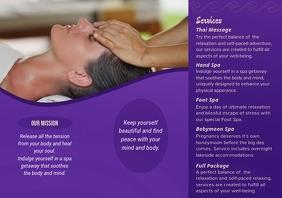 Purple Spa Brochure Beauty Parlour Back