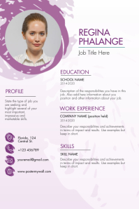 Purple Sphere Resume Template