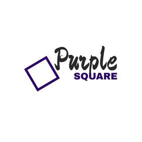 Purple square logo