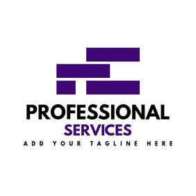 purple squares logo template design