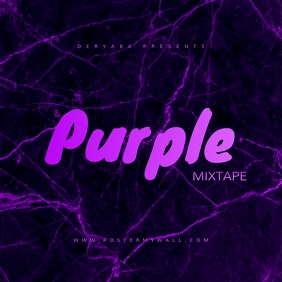 Purple Texture Mixtape CD Cover Template