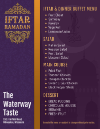 Purple Traditional Iftar Menu Design