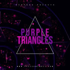 Purple Triangles Mixtape CD Cover