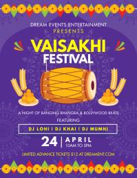 Purple Vaisakhi Festival Mela Flyer