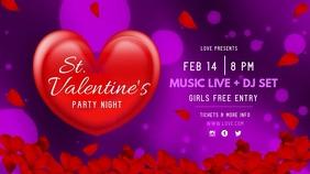 Purple Valentine's Night Party Digital Display Video