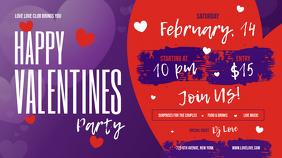 Purple Valentine Party Digital Display