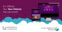 Purple website launch facebook post template