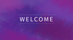 Purple Welcome Church Template Pantalla Digital (16:9)