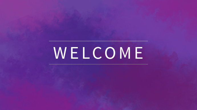 Purple Welcome Church Template Digitalt display (16:9)