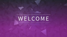 Purple Church Digital Display Video Template