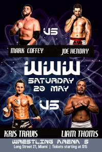 Purple Wrestling Poster