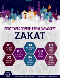 Purple Zakat eligibility flyer template