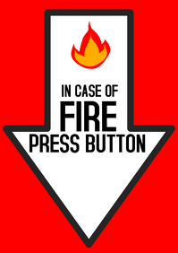 push button in case of fire, fire safety