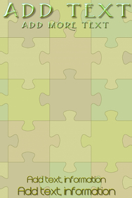 Puzzle in green shades in the background
