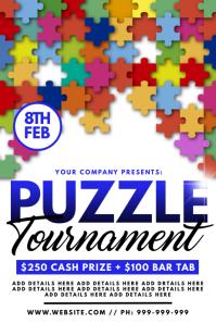 Puzzle Tournament Poster โปสเตอร์ template