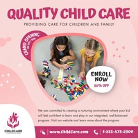 Quality Child Care Instagram Video สี่เหลี่ยมจัตุรัส (1:1) template