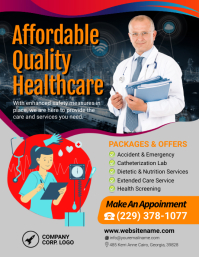 Quality Healthcare Medical Centre Flyer Folheto (US Letter) template