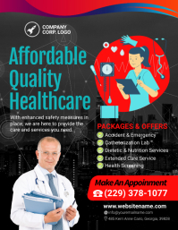 Quality Healthcare Medical Centre Flyer template