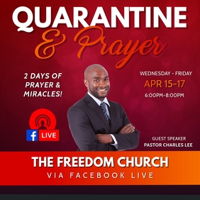 QUARANTINE & PRAYER CHURCH FLYER TEMPLATE