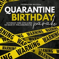 Quarantine birthday Publicación de Instagram template