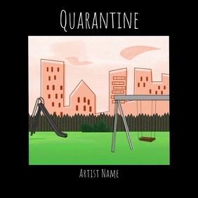 Quarantine cartoon album cover video