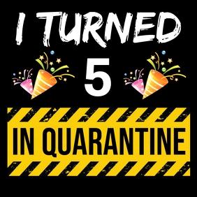 QUARANTINE KID'S BIRTHDAY TEMPLATE โพสต์บน Instagram