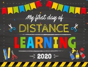Quarantine Kindergarten Sign Back To School Flyer (US Letter) template