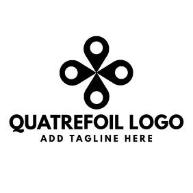 Quatrefoil logo black and white