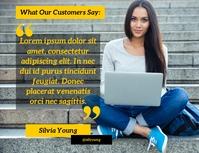 Que dicen nuestros clientes testimonios Flyer (US-Letter) template